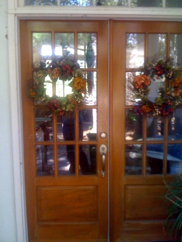 Seems like a couple of normal Christmas wreaths, right?