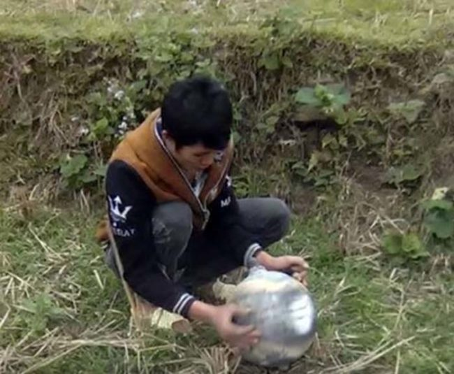 On January 2, media in Northern Vietnam reported that officials recovered three mysterious metal spheres that crashed to Earth without explanation.