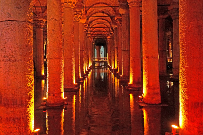 Get a history lesson in Turkey's underground Basilica Cistern.