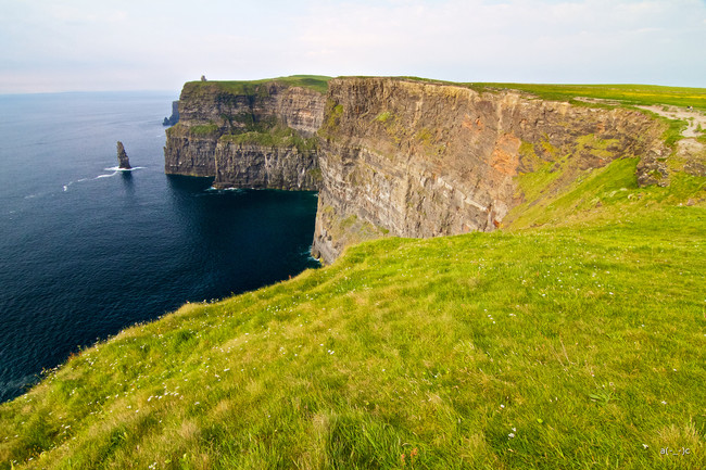 Get to know what green really looks like at the Cliffs of Moher.