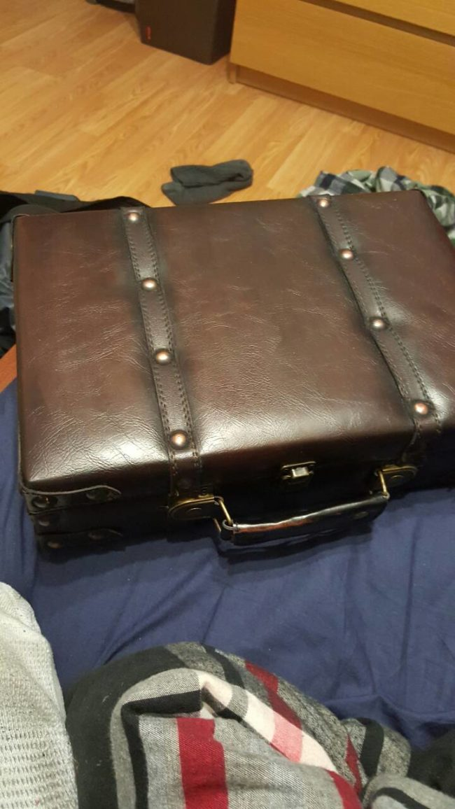 What he found was a briefcase.