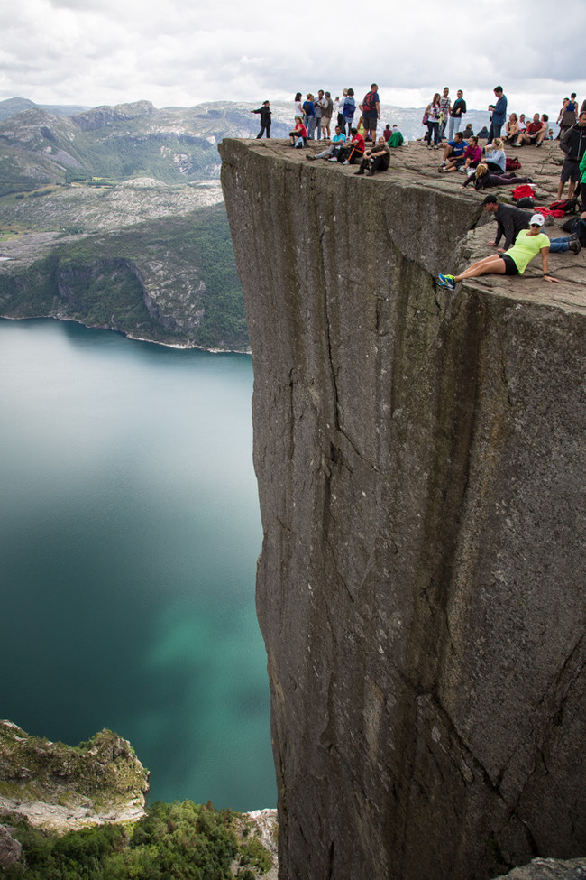 Step to the edge of Norway's Pulpit Rock.
