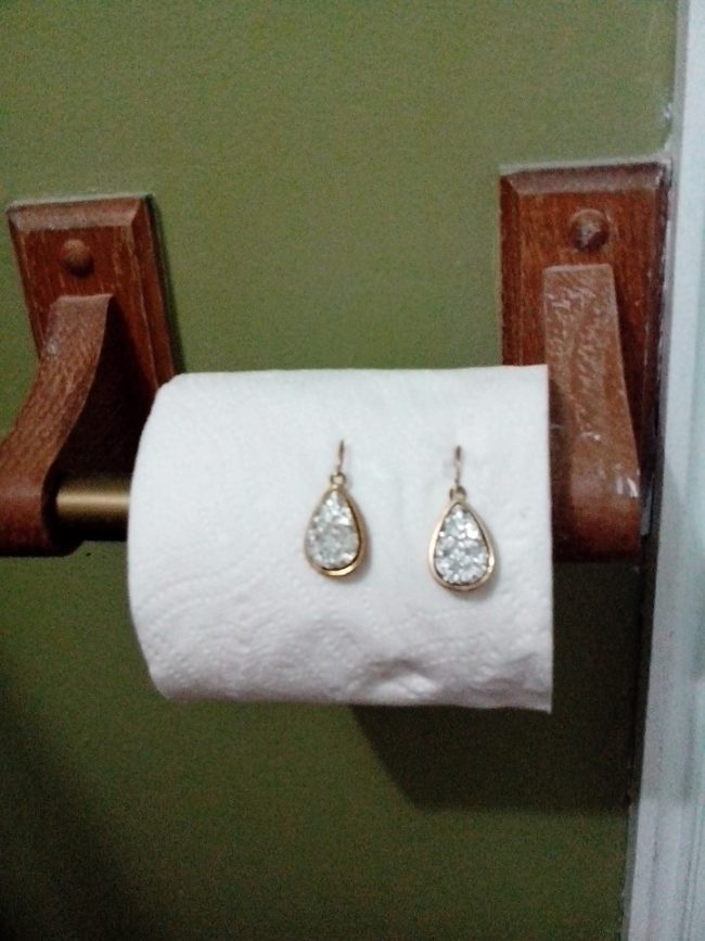 To be fair, at least drunk you didn't put the earrings <em>in</em> the toilet.