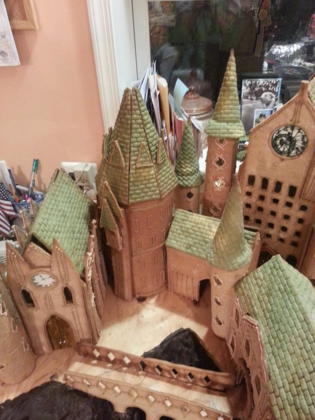 They went ahead and made Hogwarts out of cookies!