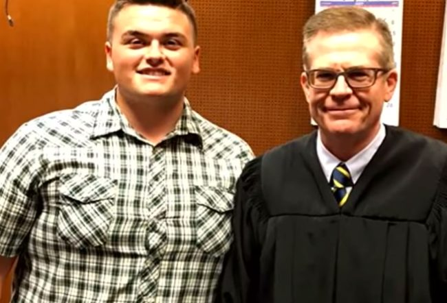 Now he's a senior in high school with great grades and is full of confidence he never had before. And just last month, his foster parents gave him the best surprise of his life with the help of this judge.