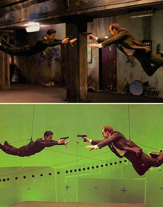 The Matrix Reloaded required some complex shooting to pull off their legendary gun battles.