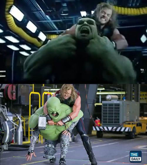 "This Thor/Hulk ""fight"" is just too funny."