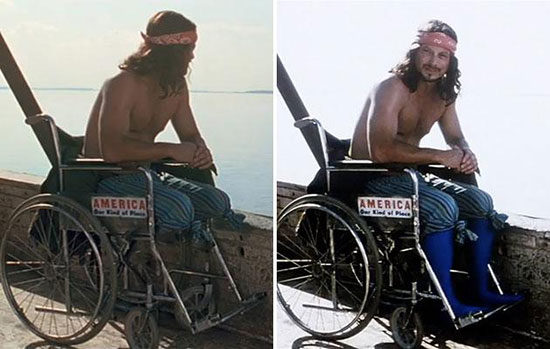 So THAT's how they created Lieutenant Dan's signature look.