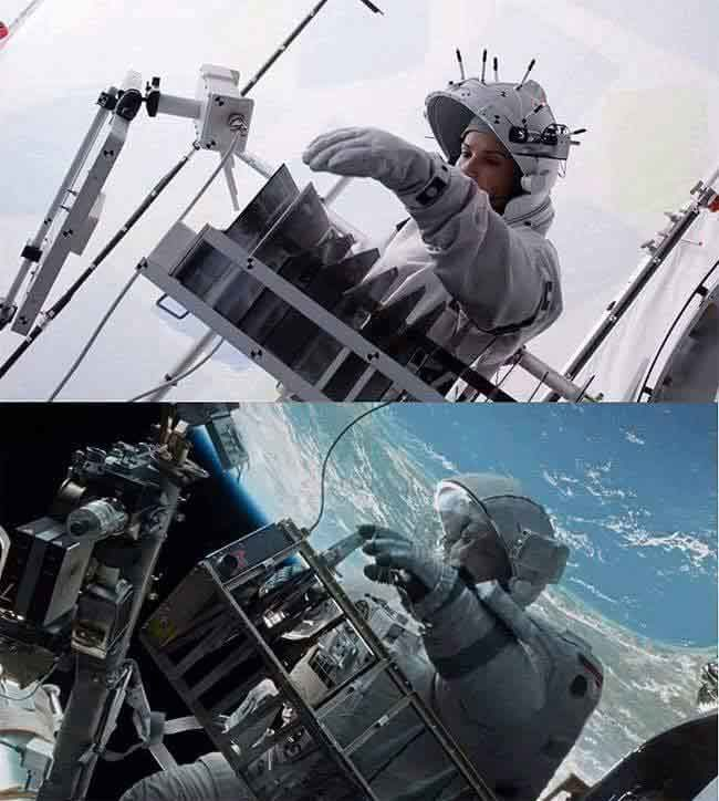 We often wondered how they achieved the realistic universe that Gravity was able to pull off. Kudos to Sandra Bullock and the CGI team.