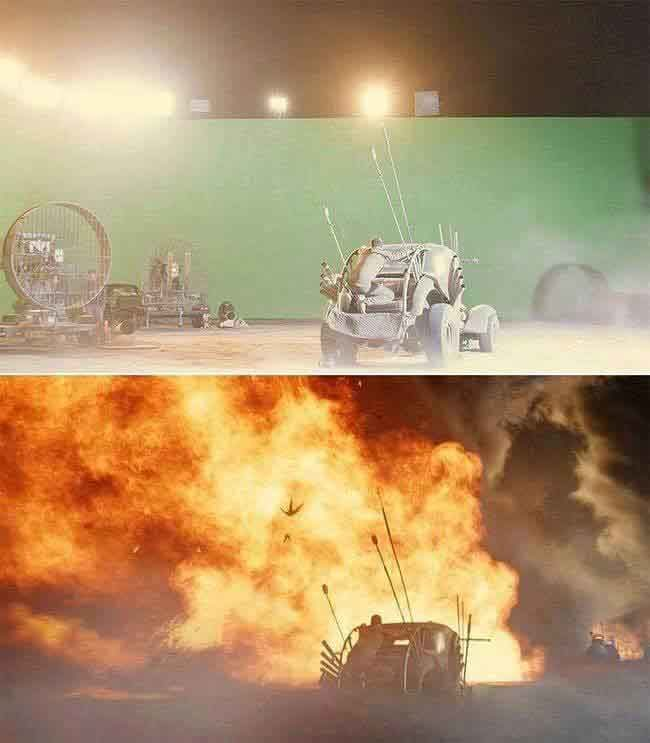 Mad Max: Fury Road fans won't be able to believe their eyes when they see this green screen transformation.